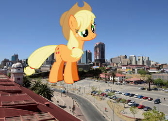 Applejack tours Johannesburg by TheOtterPony