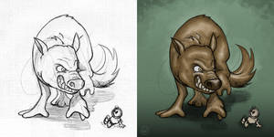 Mad creature by fabianfucci