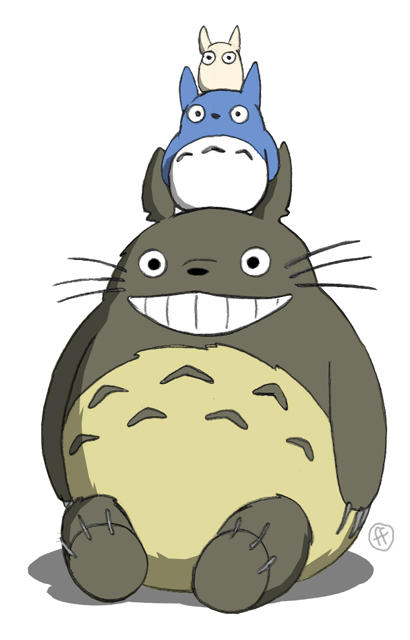 Totoro by fabianfucci