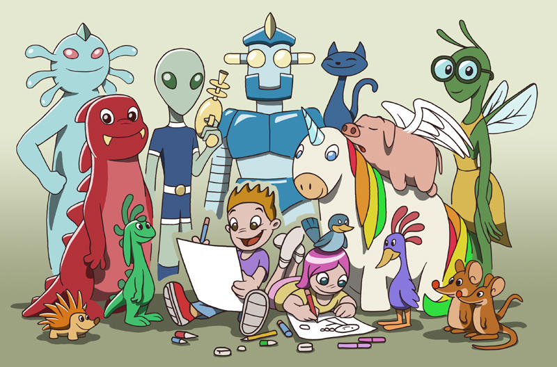 Lots of characters by fabianfucci