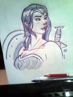 Wonder Woman fanart by fabianfucci