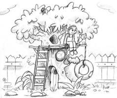 Backyard treehouse by fabianfucci