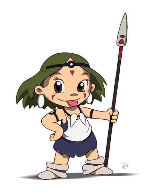 Princess Mononoke-chan by fabianfucci