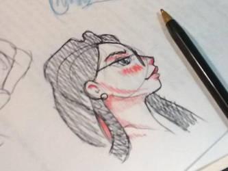 Girl sketch by fabianfucci