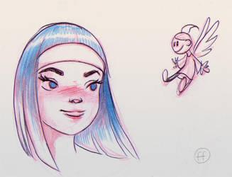 Warmup sketch by fabianfucci