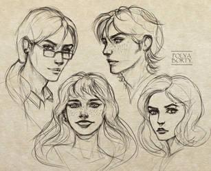 My OC sketches by PolyaBorty