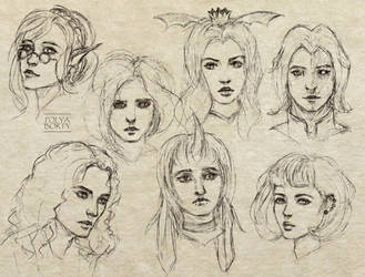 Random characters sketches by PolyaBorty