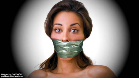 Tight Tape Wrap Gagged Girl: GTG by tgl35