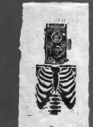 Printmaking: SkeleCamera by ImYourZero
