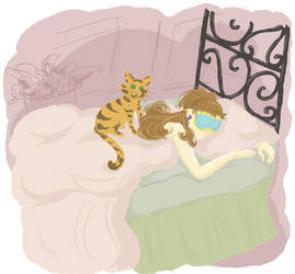 Holly and the cat 1 by LeScripte