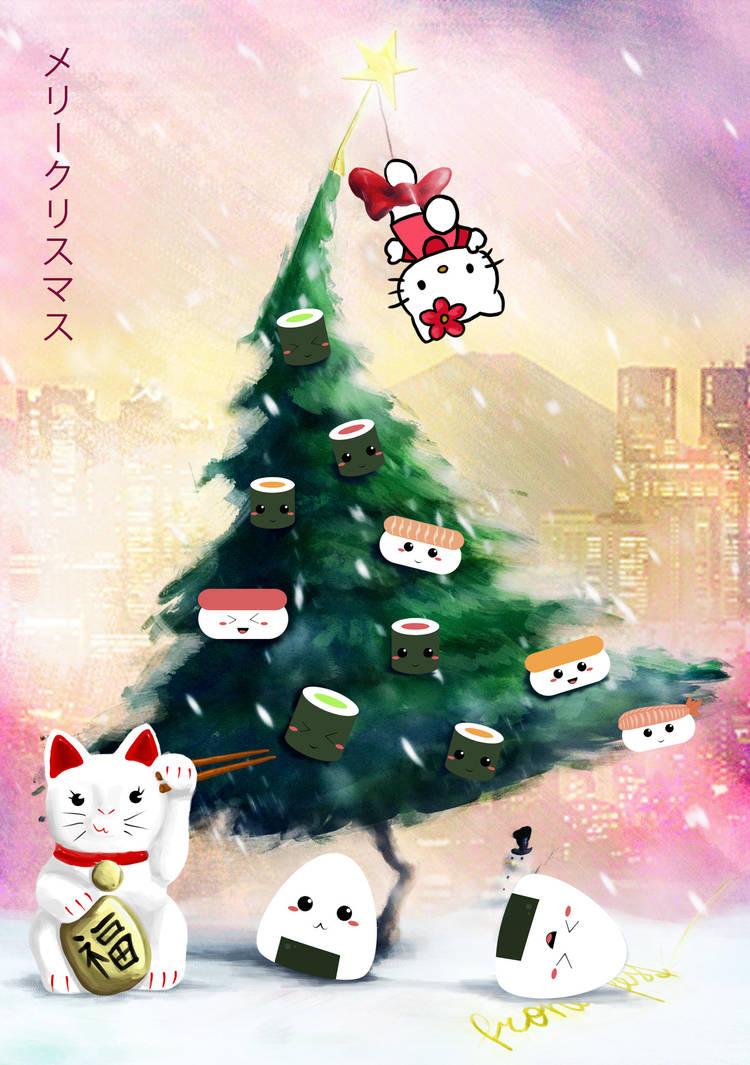 The Sushi (X-Mas)Tree by KizUna-Cat