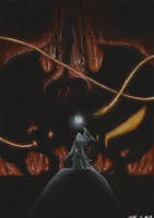 Shadow and Flame of Moria by Apelure