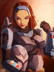 Star Wars the Clone Wars Bo-Katan  by suppa-rider by Aliens-of-Star-Wars