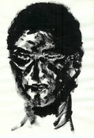 black and white portrait by jainas
