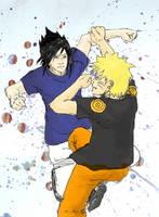 Naruto -Sasuke by jainas