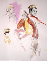 male model - portrait sketch by jainas