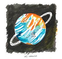 Inktober Day 2 - les cons en orbite by jainas