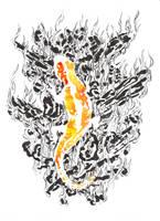 Fire Element: Salamander by jainas