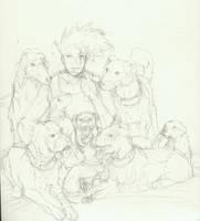 Kakashi's dogs by jainas