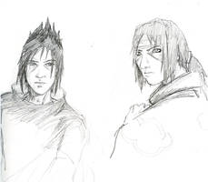 Sasuke's face -and also Itachi by jainas