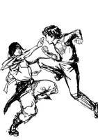 Neji vs Lee - sparing partner by jainas