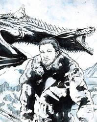 Jon Snow / Games of Thrones by jasonbaroody