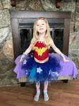 Wonder Woman tutu dress by asexualgoddess