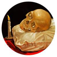 Memento Mori, Pillow, Candle by hank1