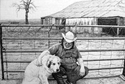 Man and His Dog by hank1