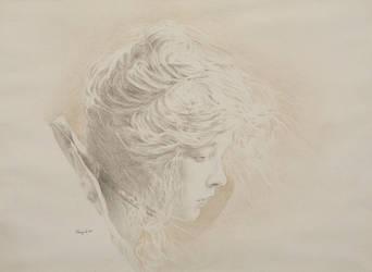 Portrait of Lillian Gish by hank1
