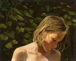 Garden, Eve as a Little Girl by hank1