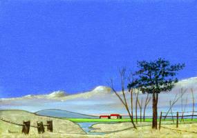 Farmstead in Winter by hank1