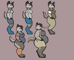 8-10 Hyena Weight Gain by Sketchy-Genet
