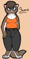 Jamie the Ferret by Sketchy-Genet