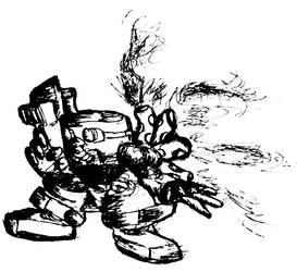 Atomic Robo Kid by netdiverkai