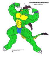Oscar as a Dragon SBC by Drayo