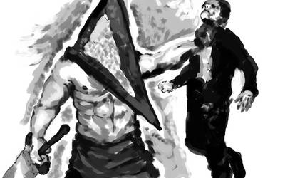 -Pyramid Head sketch. by TypicalTypes