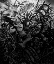 A brutal god by TypicalTypes