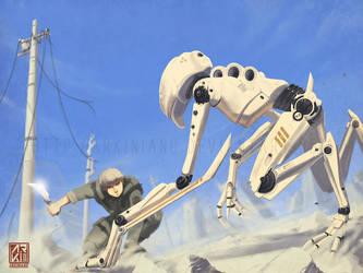 Man vs machine by FJFT-Art