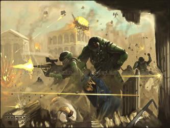 Praetorian Battle Scene by FJFT-Art