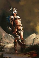 Tribal warrior by FJFT-Art