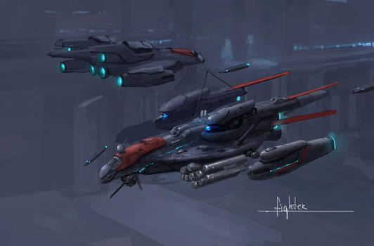 space fighter concept by JimHatama