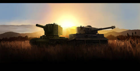 Tanks main screen by JimHatama