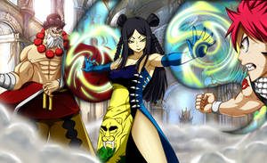 A Dragon, Master and Tigress // Fairy tail 283 by Mirajanee