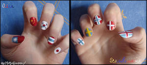 Asia and Scandinavian nails 8D by Feffelini