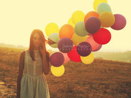 girl with balloons by leelloor