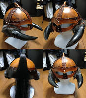 Viking Leather Helmet by battosai1976