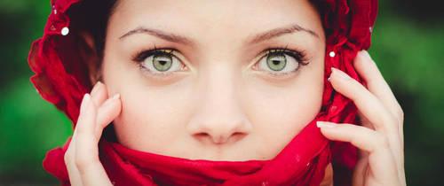 Silvia green eyes by aledeviantartist