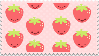 Chibi Strawberry Stamp by PrismsFairies