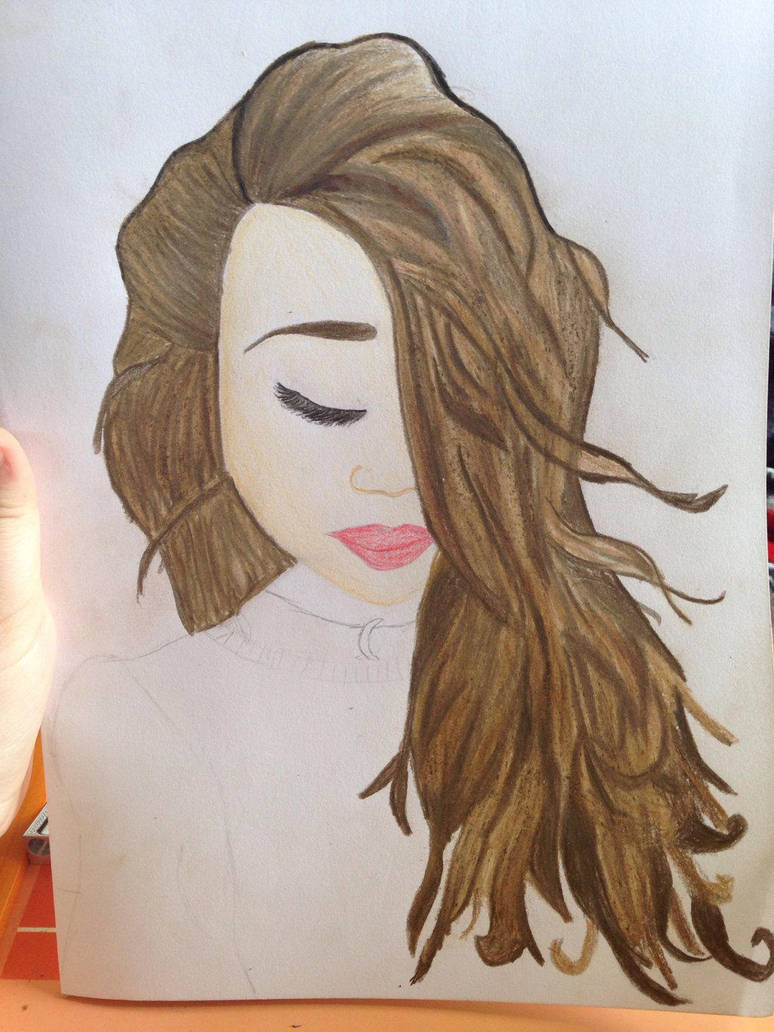 Girl with wavy hair (incomplete) by JadeArts23